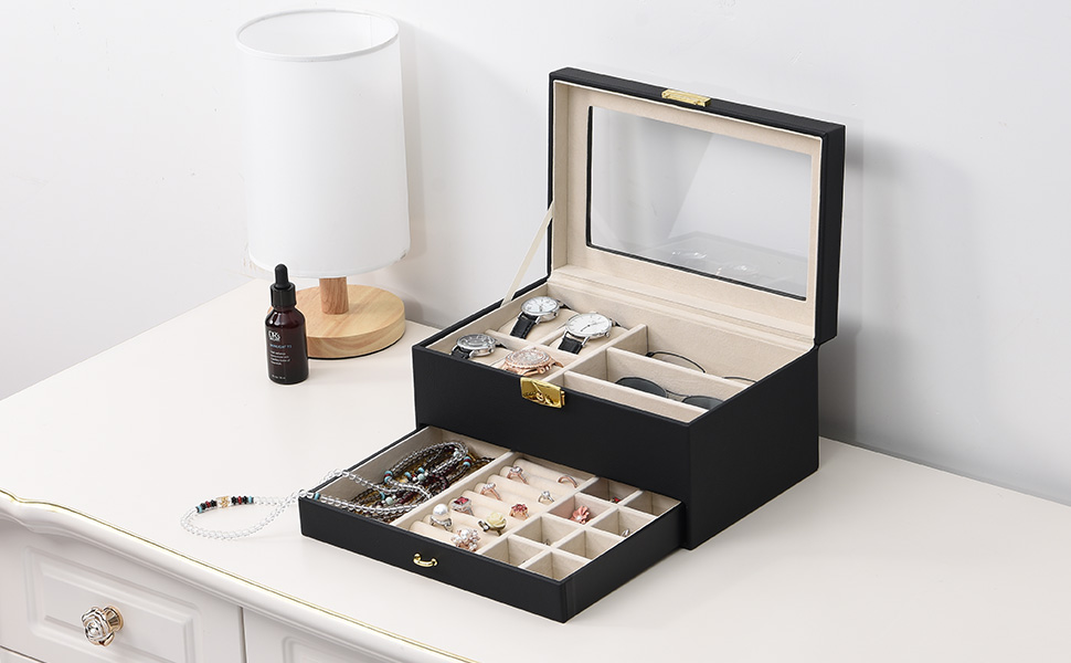 Details about  /Ceramic Jewelry Box Vanity Top Organizer Small  Holder For Women Girls