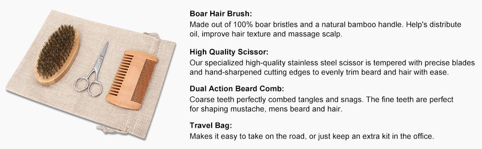 Beard care kit for man