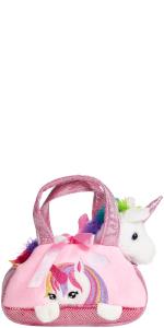 seitenansicht, brubaker, regenbogen-einhorn, einhorn, unicorn, rainbow unicorn, kuscheltier