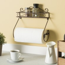 automatic paper towel dispenser, shelf paper towel holder, wooden paper towel holder, rustic paper