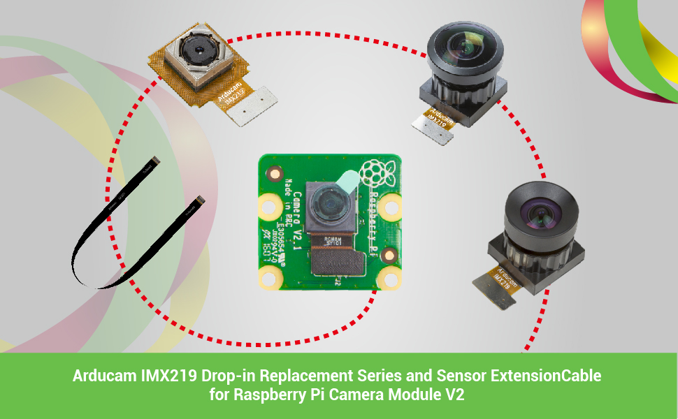 sony imx219 camera module for Raspberry Pi and extension cable