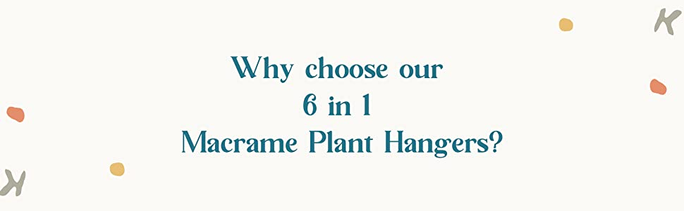 Why choose us - Hanging planters indoor