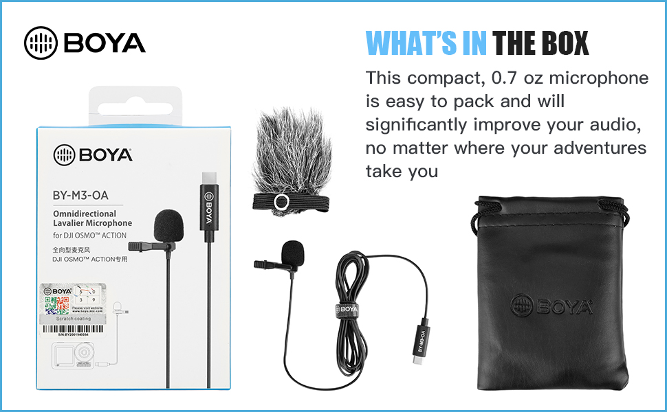 boya microphones for dji osmo action camera