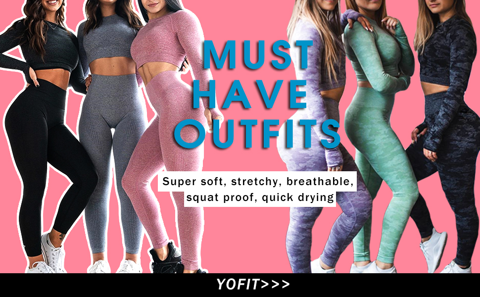 womens workout outfit set