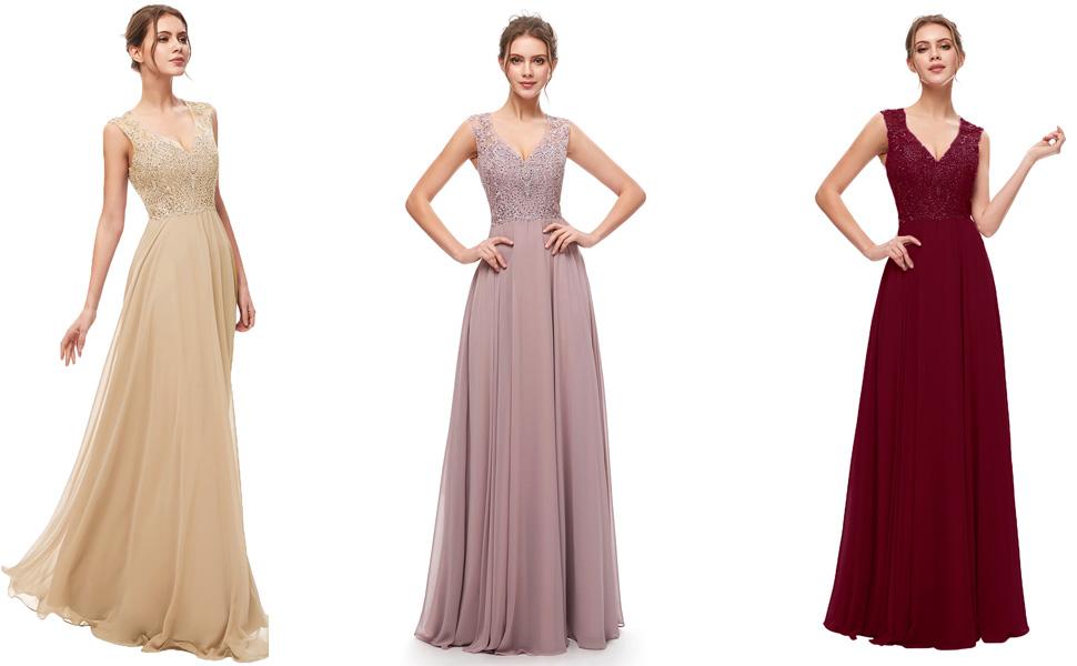 Amazon Com Sarahbridal Vestidos De Fiesta De Gasa Largos Para Mujer Clothing