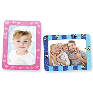 VHALE DIY Paint Your Own Picture Frame Classroom Arts and Crafts, Party Favors for Kids