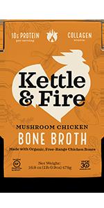 Mushroom soup bone broth