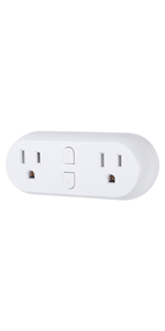 HBN Heavy Duty Wi-Fi Individual Control 2 Grounded Outlets