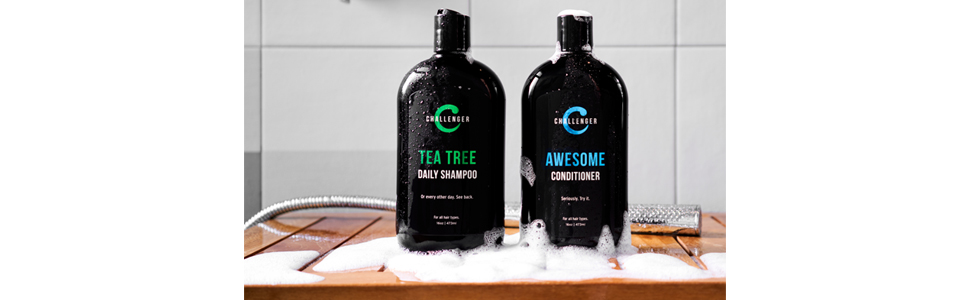 challenger tea tree shampoo and conditioner shelf