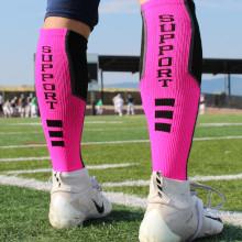 Pink Breast Cancer Awareness Football Socks