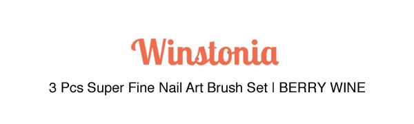 Winstonia Nail Brushes Berry Wine