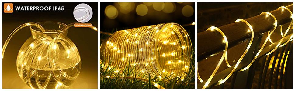 illuminazione natalizia albero di Natale Catena di luci a 200 LED balcone festa B-right per Natale con telecomando per esterni luce bianca calda funzionamento a corrente matrimonio