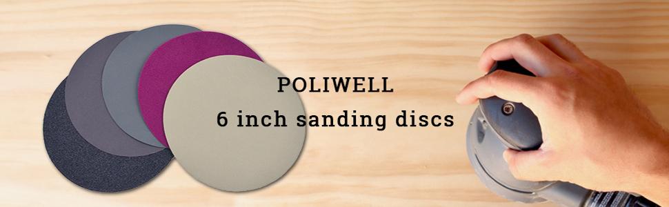 6 inch sanding discs