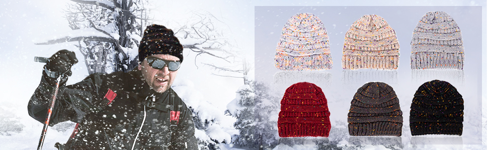 Knit Beanie Hat for Women Thick amp; Soft Warm Winter Slouchy Beanie Thick Cable Knit Hats Ski Cap