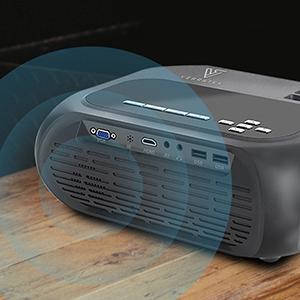 mini projector video player hd portable movie outdoor indoor LumaVision verratek