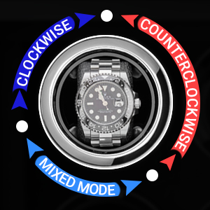 Watch winder rotor 3 rotation directions