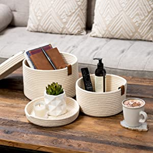coffee table tray basket remote control candles home decor