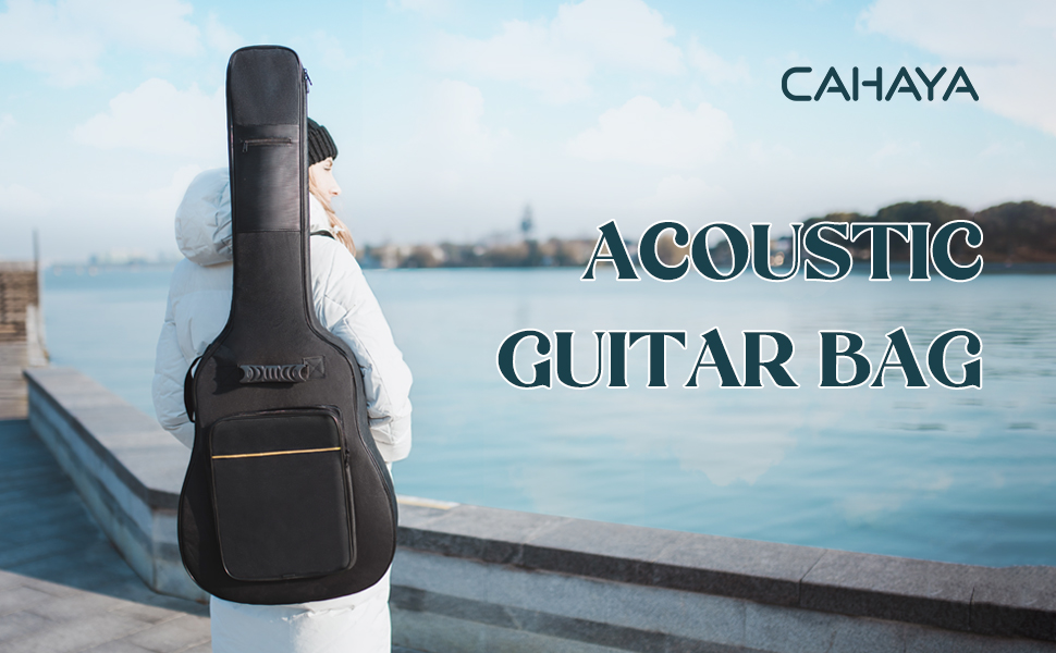 CAHAYA acoustic classical guitar bag padded gig bag black backpack