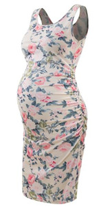 Bhome Floral Maternity Tank Dress