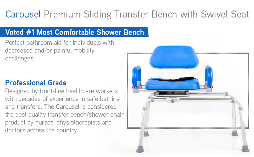 platinum health carousel sliding transfer bench amazon