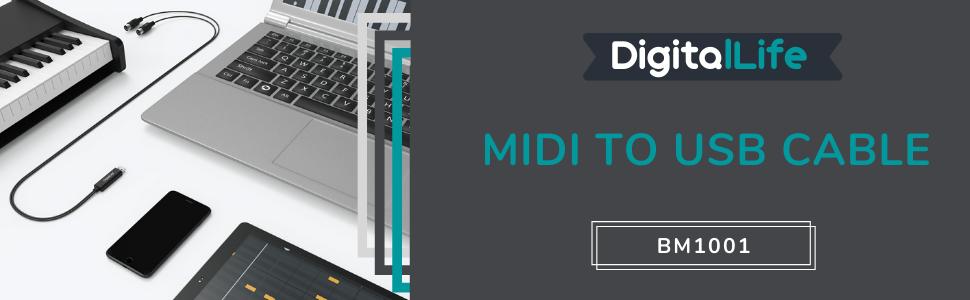 Digitallife Câble audio mâle vers mâle interface MIDI pour carte son audio 7.1