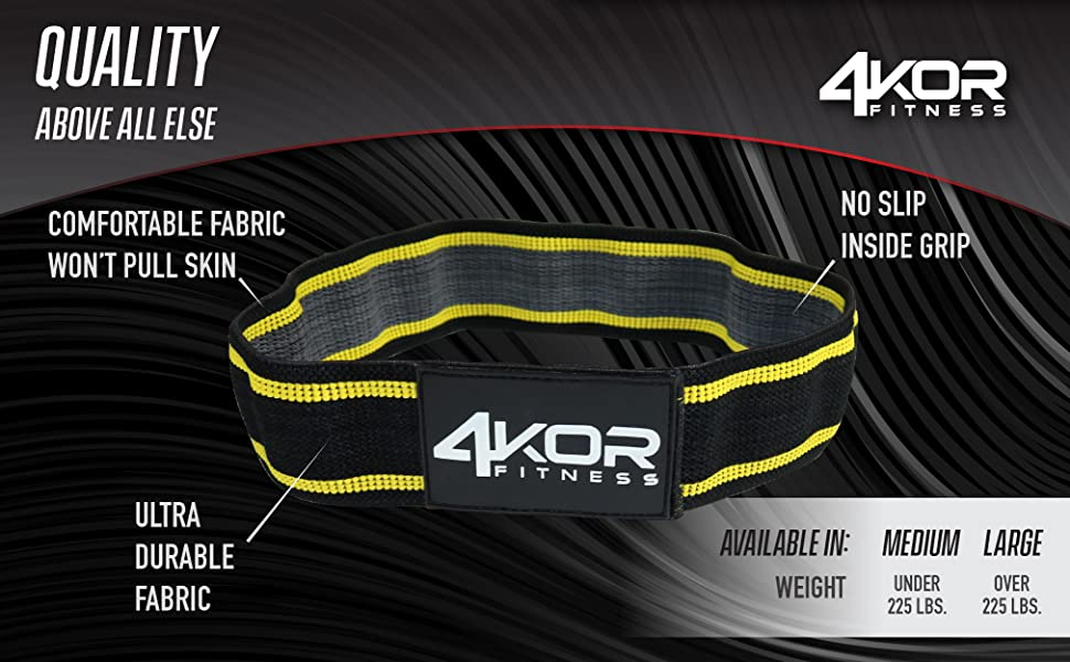 4KOR Resistance Fit Bands - Set of 3   Tone & Lift Glutes, Arms & Legs