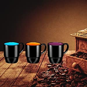 Porcelain Coffee Mug Set - 11 Ounce for Coffee, Tea, Cocoa and Mulled Drinks