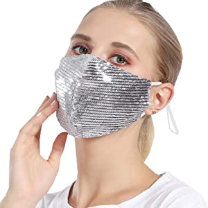 sparkly face mask For women glitter face mask Fancy mask Sparkly mask for women glitter mask Party