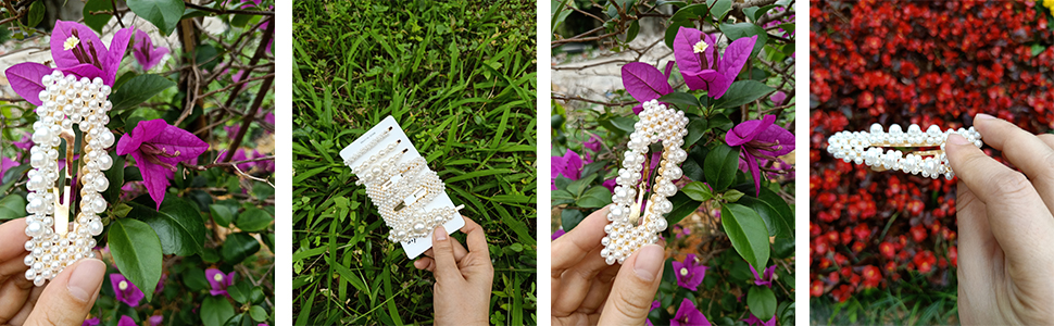 girl pearl clips