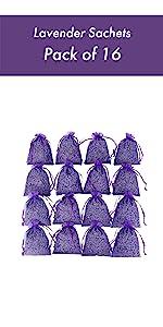 Home Fragrance Sachet, Pack of 16