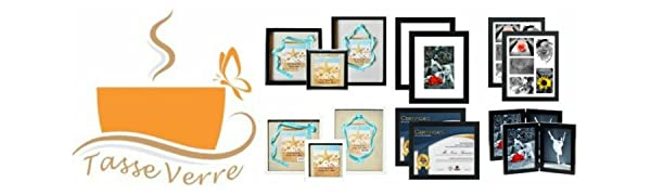 Tasse Verre picture frame 8x10 8.5x11 5x7 collage display certificate award diploma standard paper