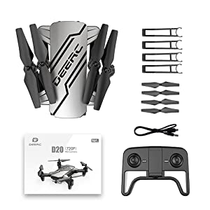 Package  DEERC D20 Mini Drone for Kids with 720P HD FPV Camera Remote Control Toys Gifts for Boys Girls with Altitude Hold, Headless Mode, One Key Start, Tap Fly, Speed Adjustment, 3D Flips 2 Batteries 10476a6a e17c 4f26 8d3a 48ed6cd2dd00