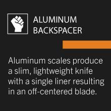 building aluminum metal off center blade sharp ambidextrous clip manual deployment butcher whittle