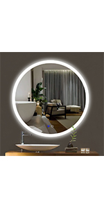 32-INCH round mirror