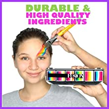 high quality durable professional water activated face and body painting kit palette for kids