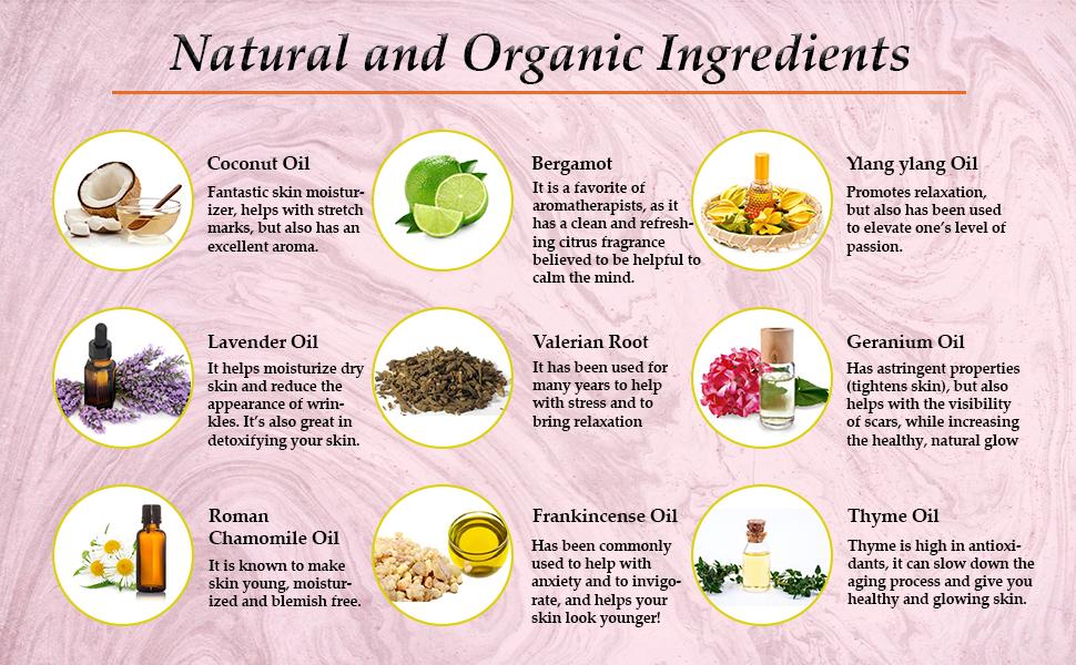 ingredients of honeyskin sleepy time oil