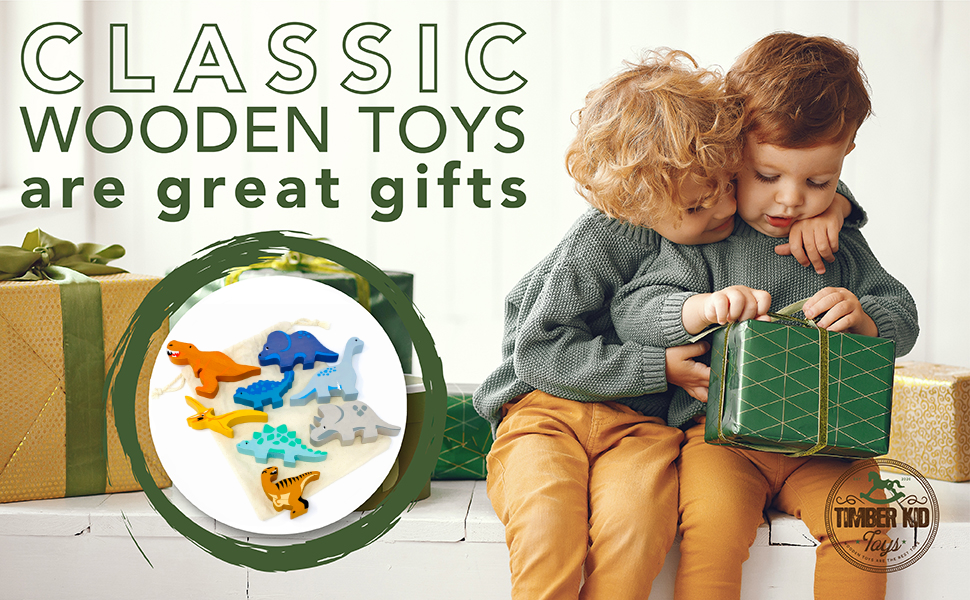 Gifts for boys 2 to 4 animal figurines wooden baby toys