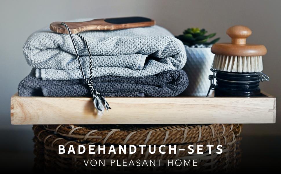 Weich /& Saugf/ähig Wei/ß PH Pleasant Home 4teiliges Handtuch-Set f/ürs Badezimmer 100/% Baumwolle Griechischer Schl/üsselrand 520 g//m/² 2 Badehandt/ücher /& 2 Handt/ücher