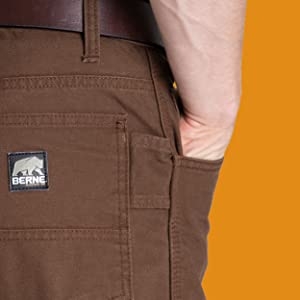 Berne Acre Washed Duck Carpenter Pant tag label product image
