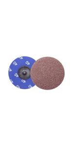 """25 2/"""" Roloc A//O Quick Change Sanding Disc 40 Grit and Mandrel Disc Holder"""