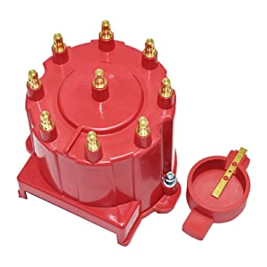 Amazon Com A Team Performance 8 Cylinder Efi Distributor Cap Rotor Kit Compatible With Gm 454 305 350 Red Automotive