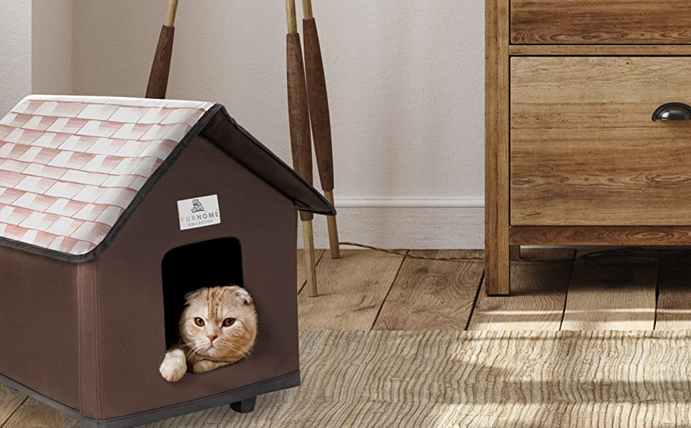 Furhome Collective Heated Cat Houses For Indoor Cats Elevated Waterproof And Insulated A Safe Pet House And Kitty Shelter For Your Cat Or Small Dog To Stay Warm