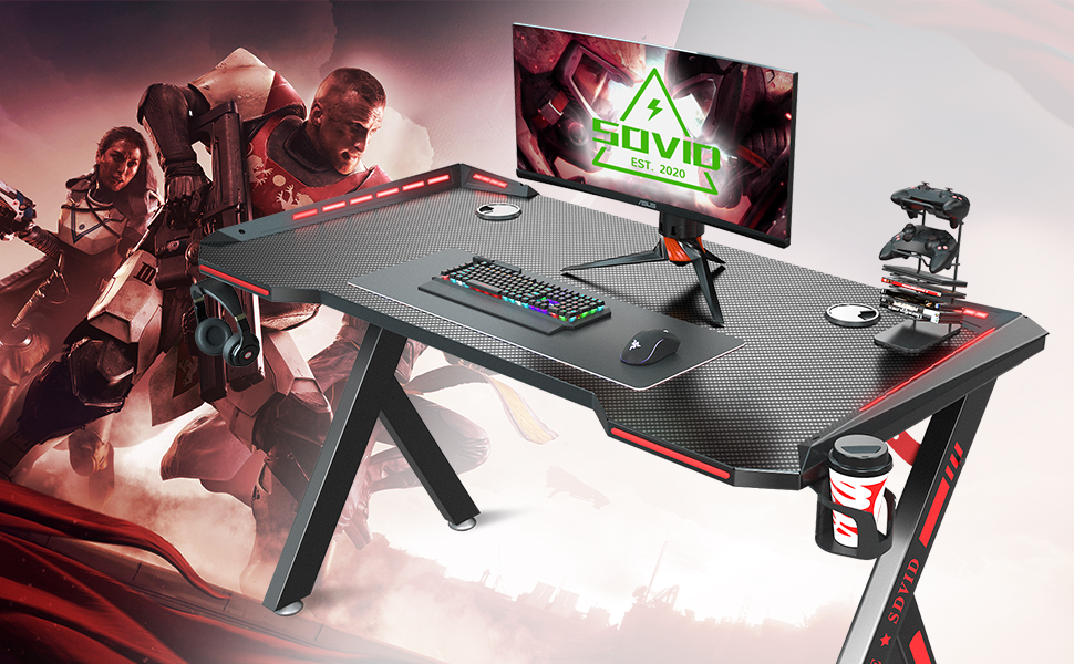 "SOViD 47""Gaming Desk - Level up your gaming experience."