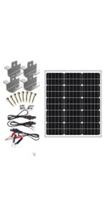 20w solar panel with regulator