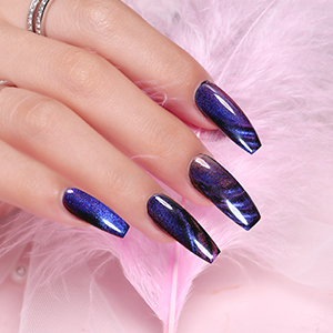 cat eye gel polish Chameleon Magnetic Galaxy Glitter Gel Polish cat eye nail polish gel with magnet