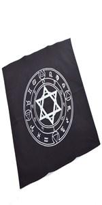 Black altar tarot cloth
