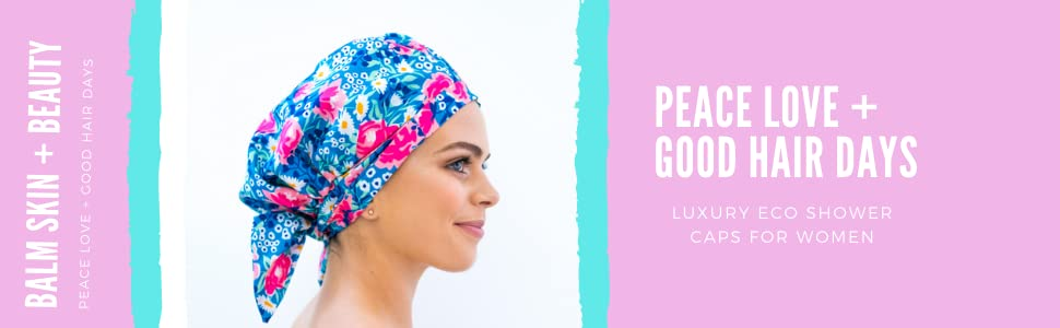 Shower Cap for women, Luxury Shower Cap, Eco Shower Cap, Turban, waterproof shower caps, eco gift