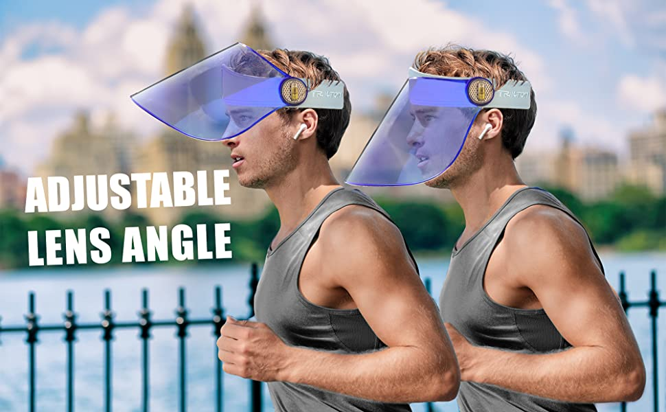 uv face shield adjustable electroplated lens