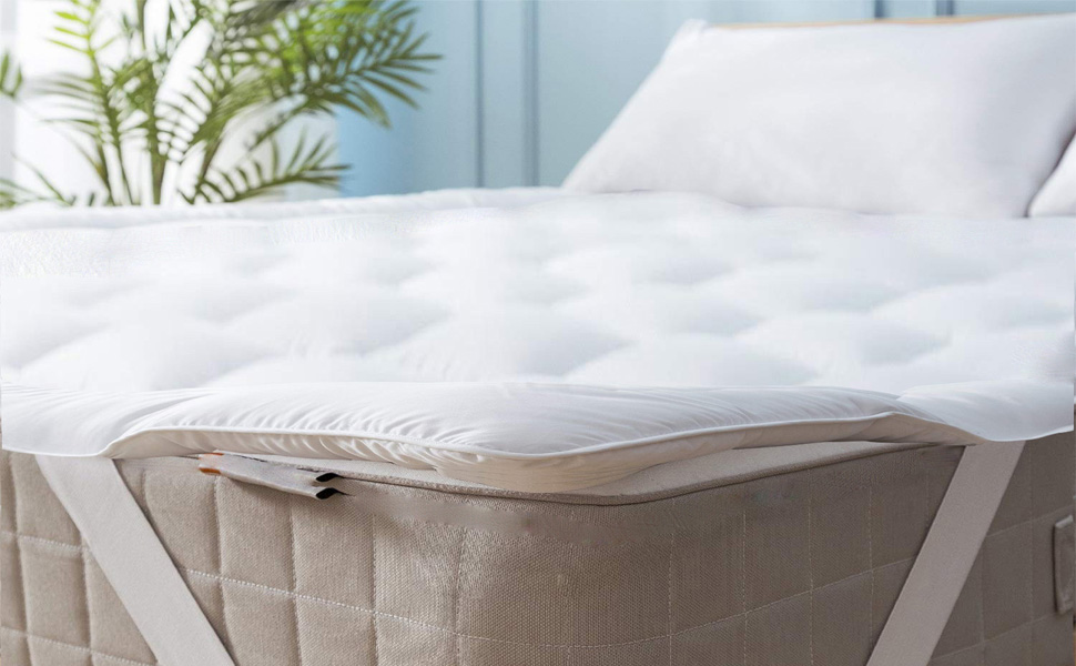 Niagara Sleep Solution Mattress Topper Twin 39x75 Quilted Down Alternative Anchor Band 4 Corner Elastic Protector Enhancer Extra Deep Fits 20 Inches Soft White Bed Cover Microfiber Twin 4 Corner Home