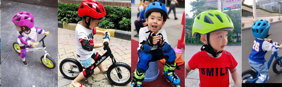 Kids Bike Bicycle Head Helmets Skating Skate Board Girls Boys Protective Gear HH